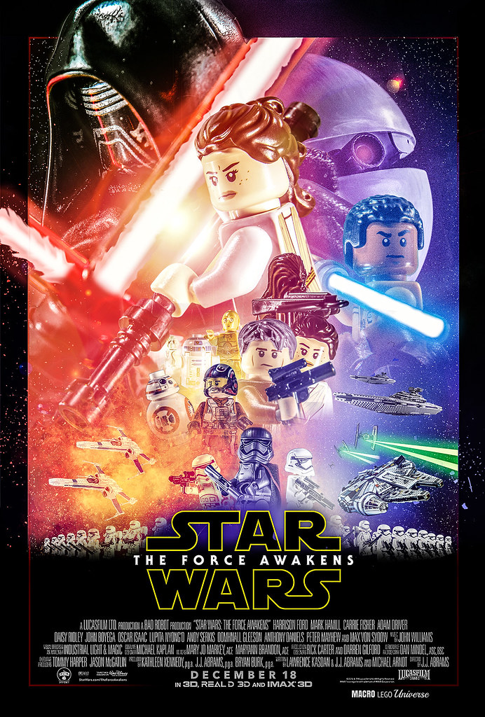 LEGO version of The Force Awakens theatrical poster | Brickset: LEGO ...