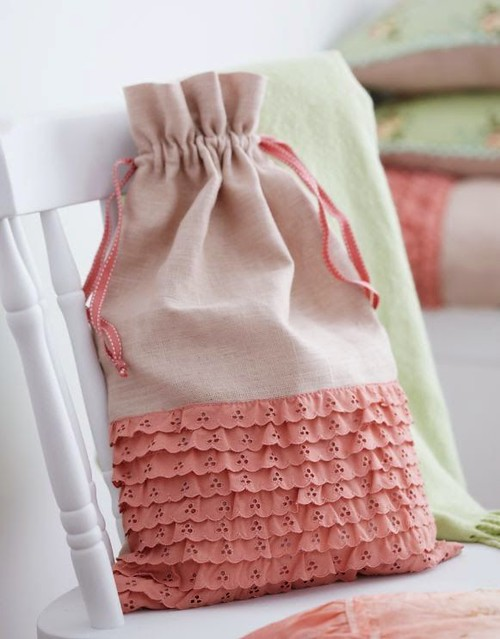 Linen Laundry Bag from Torie Jayne's Stylish Home Sewing
