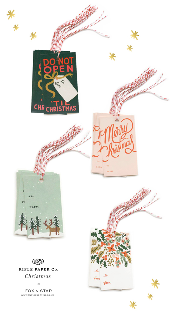 Rifle Paper Co. Christmas gift tags