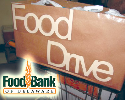The Wilmington University community comes together each year to donate food to the Food Bank of Delaware to help underprivileged families enjoy filling and nutritious Thanksgiving meals.