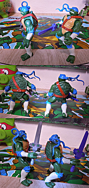 "Nickelodeon ""HISTORY OF TEENAGE MUTANT NINJA TURTLES"" FEATURING LEONARDO - 'NINJA TURTLES: THE NEXT MUTATION' LEONARDO iv / ..with Original N.M. LEO '97 (( 2015 ))"
