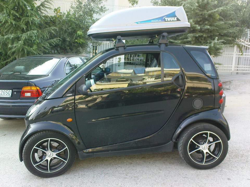 Smart fortwo roof rack cosmecol for Mercedes benz roof box 450 dimensions