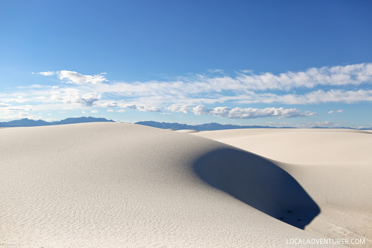 White Sands National Monument New Mexico USA - one of the world's greatest natural wonders located an hour outside Las Cruces.