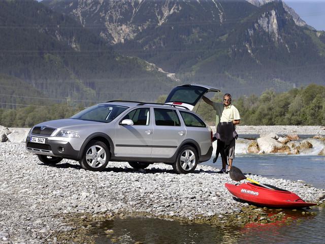 Внедорожный универсал Škoda Octavia Scout (кузов 1Z). 2007 – 2008 годы
