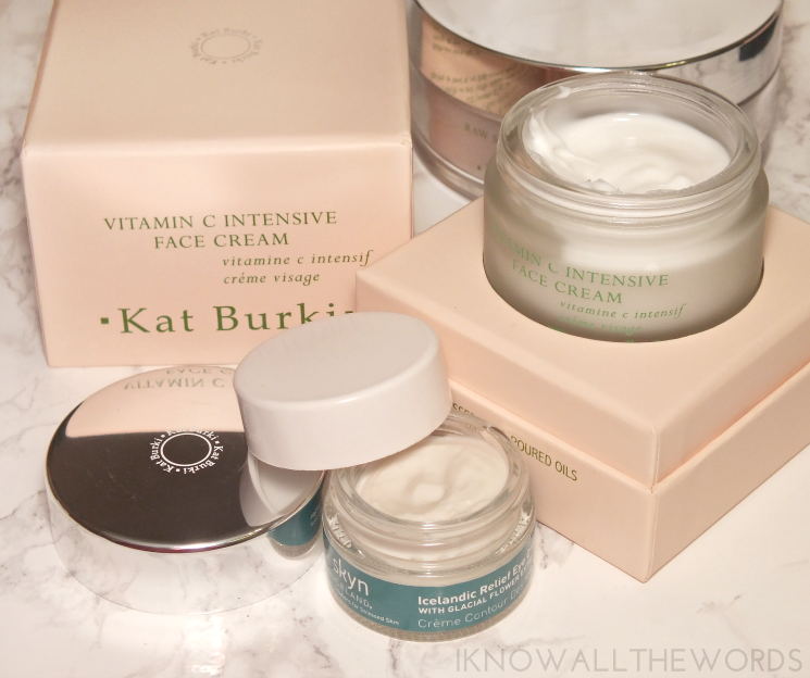 the holiday papmer skyn iceland icelandic relief eye cream kat burki vitamin c intensive face cream