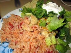 Rice And Nachos.