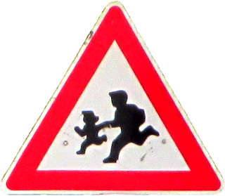 "Warning Sign ""Children"" in Balchik (AP4L2842 1PSP"