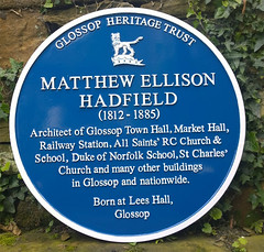 Photo of Matthew Ellison Hadfield blue plaque
