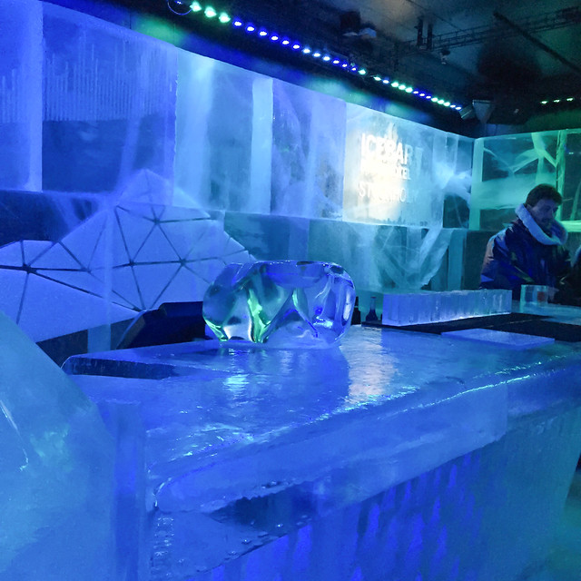 The ice bar Stockholm