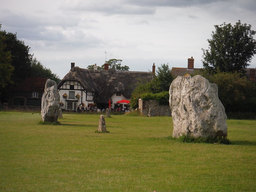 Avebury Standing Stones, and The Red Lion Pub