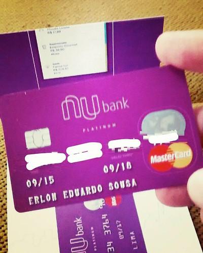 chegou, é hoje ... #Nubank  #SouNubank  #SouNu  ... espero que essa empresa faça muito barulho, mude o mercado, Sem Anuidade, Sem Taxa.