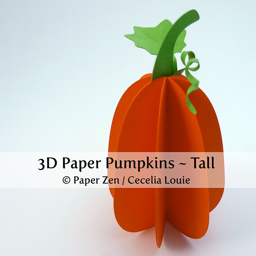 DIY Paper Pumpkin - Tall