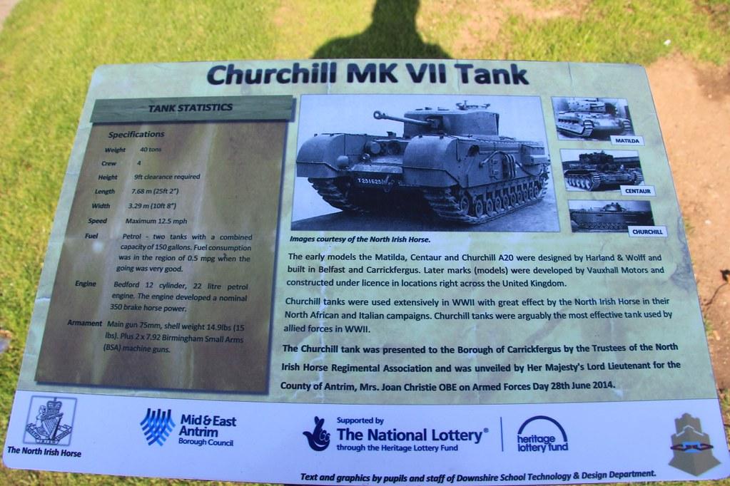 A Churchill Tank at Carrickfergus Cenotaph