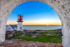 Lindesnes lighthouse sunset
