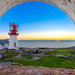 Lindesnes lighthouse sunset by Richard Larssen