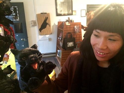 Ana Black Cat Puppet at Poe Museum (November 13 2014)