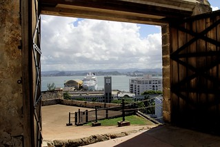 Bild av Castillo San Cristóbal nära San Juan. old cruise cloud port puerto photography pier town san downtown day juan cloudy outdoor framed district historic rico frame chip pr cristobal castillo sju seabourn odessey konomark