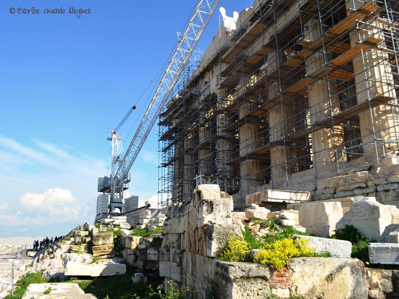 Vista frontal del Partenón de Atenas