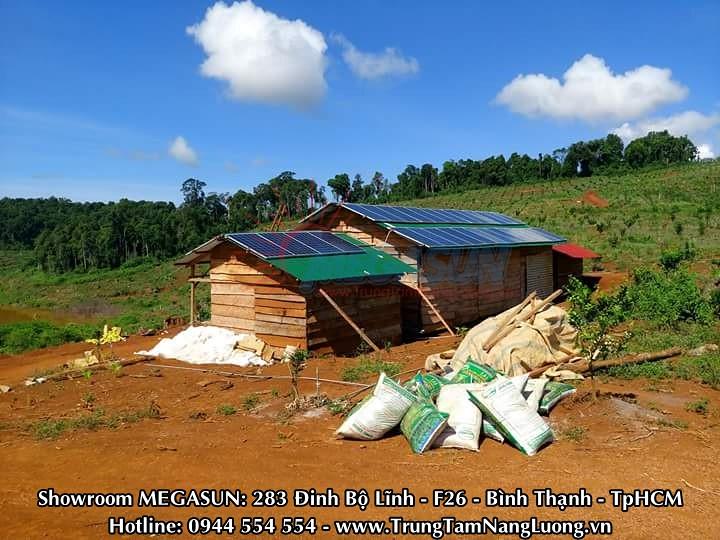 Công trình điện năng lượng mặt trời MEGASUN 1.5Kw tại Lâm Đồng