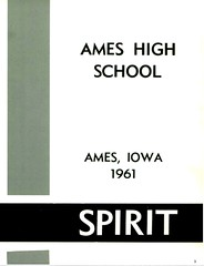 1961 AHS Spirit yearbook inside page 3 scan Ames High School Ames Iowa 1961
