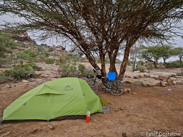 Camp at Las Geel