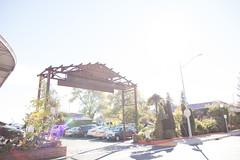 Sunny Napa River Inn sign