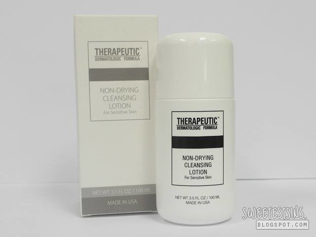 therapeutic dermatologic formula non drying cleansing lotion