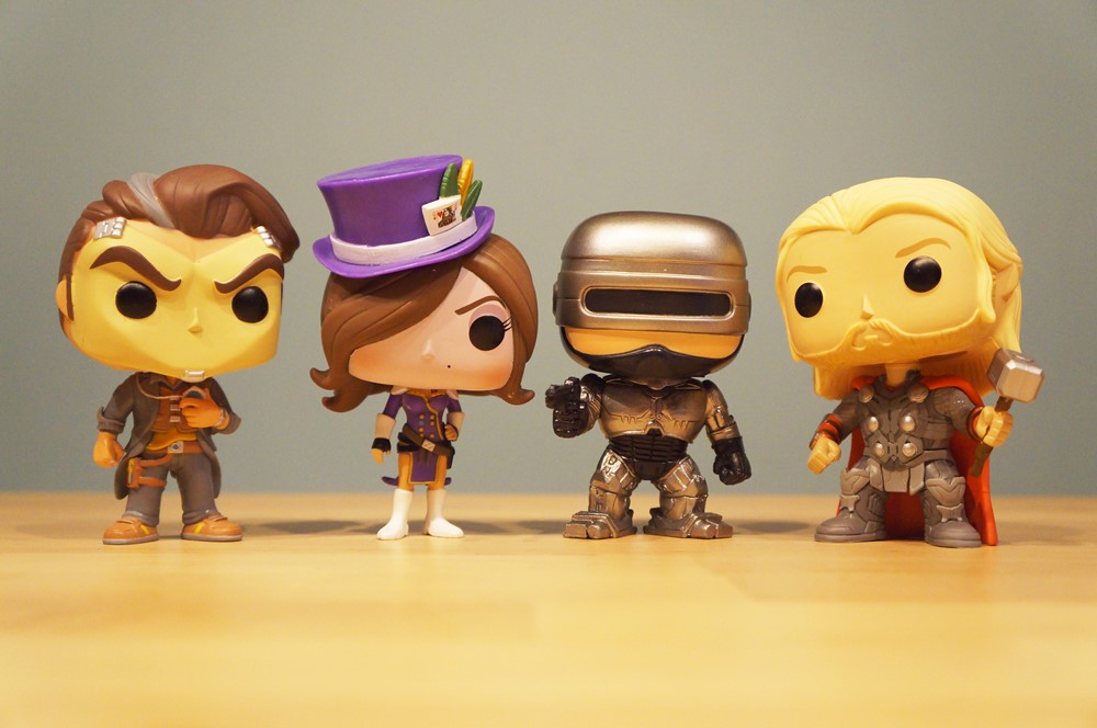 Pop! Handsome Jack, Mad Moxxi, RoboCop & Thor