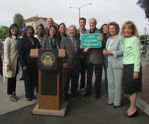 Congresswoman Pelosi joins Unveiling of the John Burton Highway