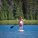 Stand Up Paddleboarding on Todd Lake