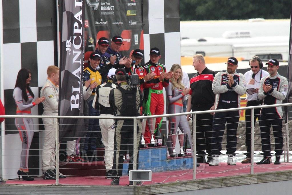 The GT podium at Donington Park, September 2015