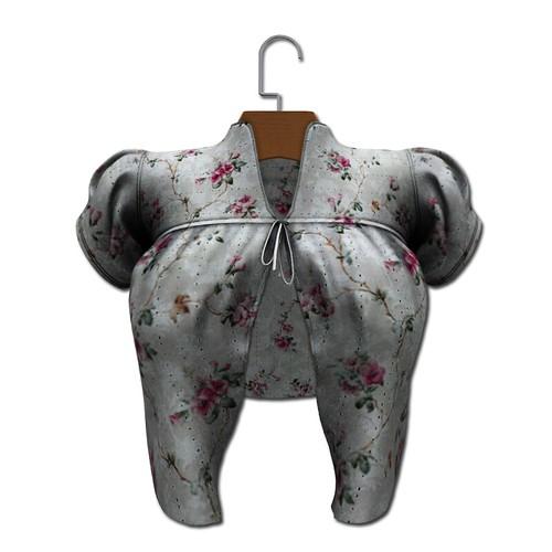 {MYNX} Tie Sweater - Gray Floral