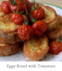 Eggy Bread with Grilled Cherry Tomatoes