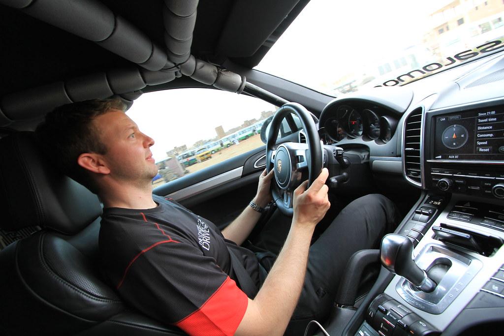 Seb driving