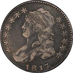 meyer-Pogue 1817 over 4 half dollar