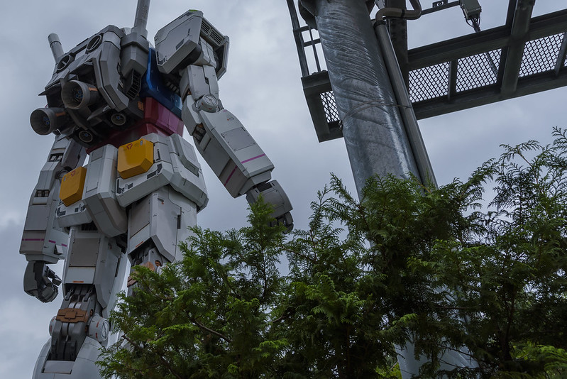 GUNDAM,Backside view.