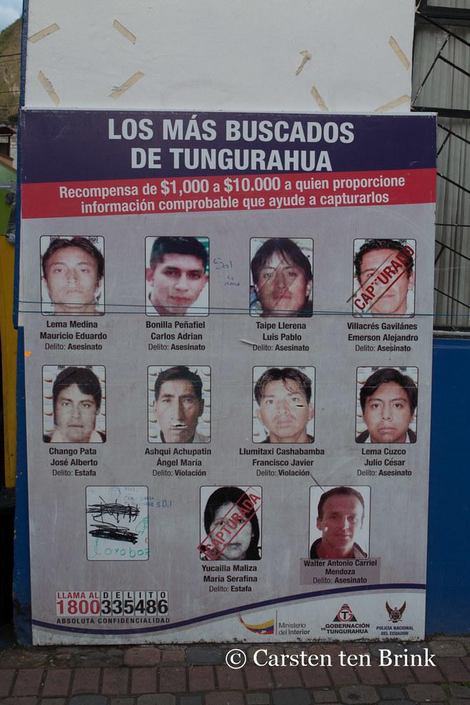 Tungurahuas most wanted