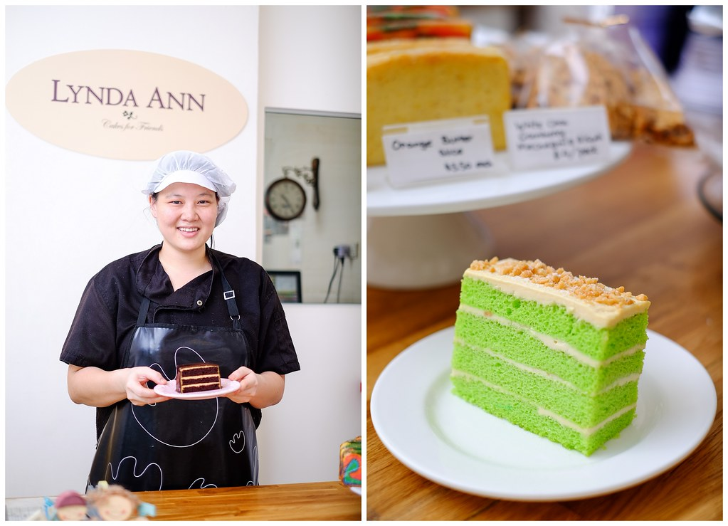Lynda Ann herself & Lynda's Pandan Perfection cake