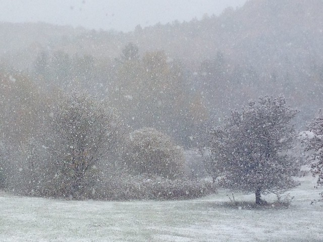 Snow, Oct. 18
