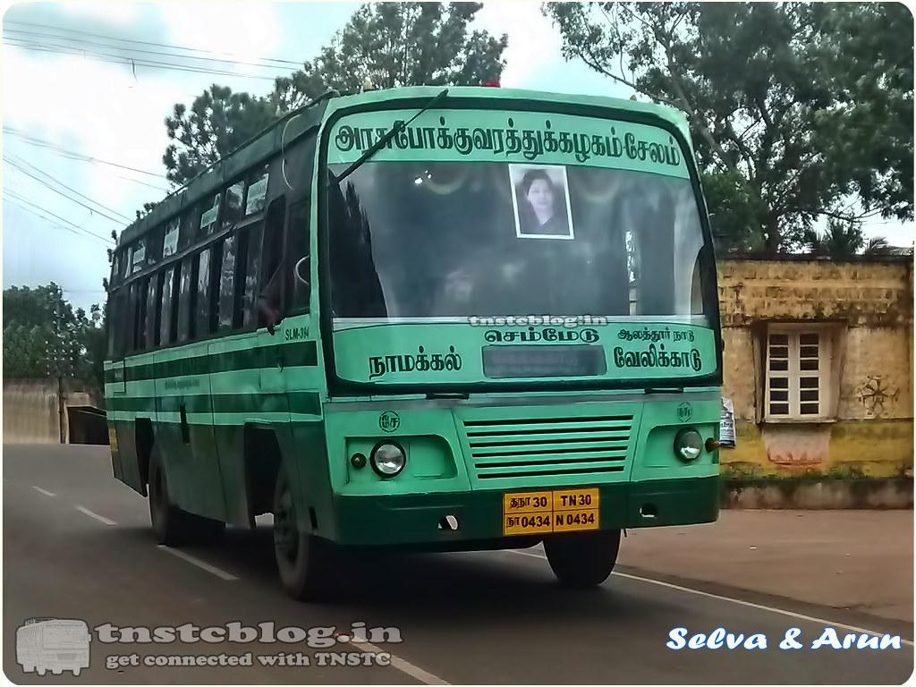 TN-30N-0434 of Namakkal 1 Depot Route Namakkal - Velikadu via Semmedu, Alathur Nadu.