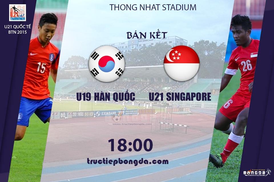 U19 Hàn Quốc vs U21 Singapore
