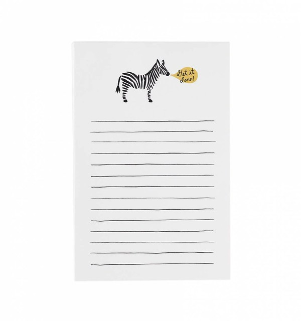 rifle paper co zebra get it done notepad 01