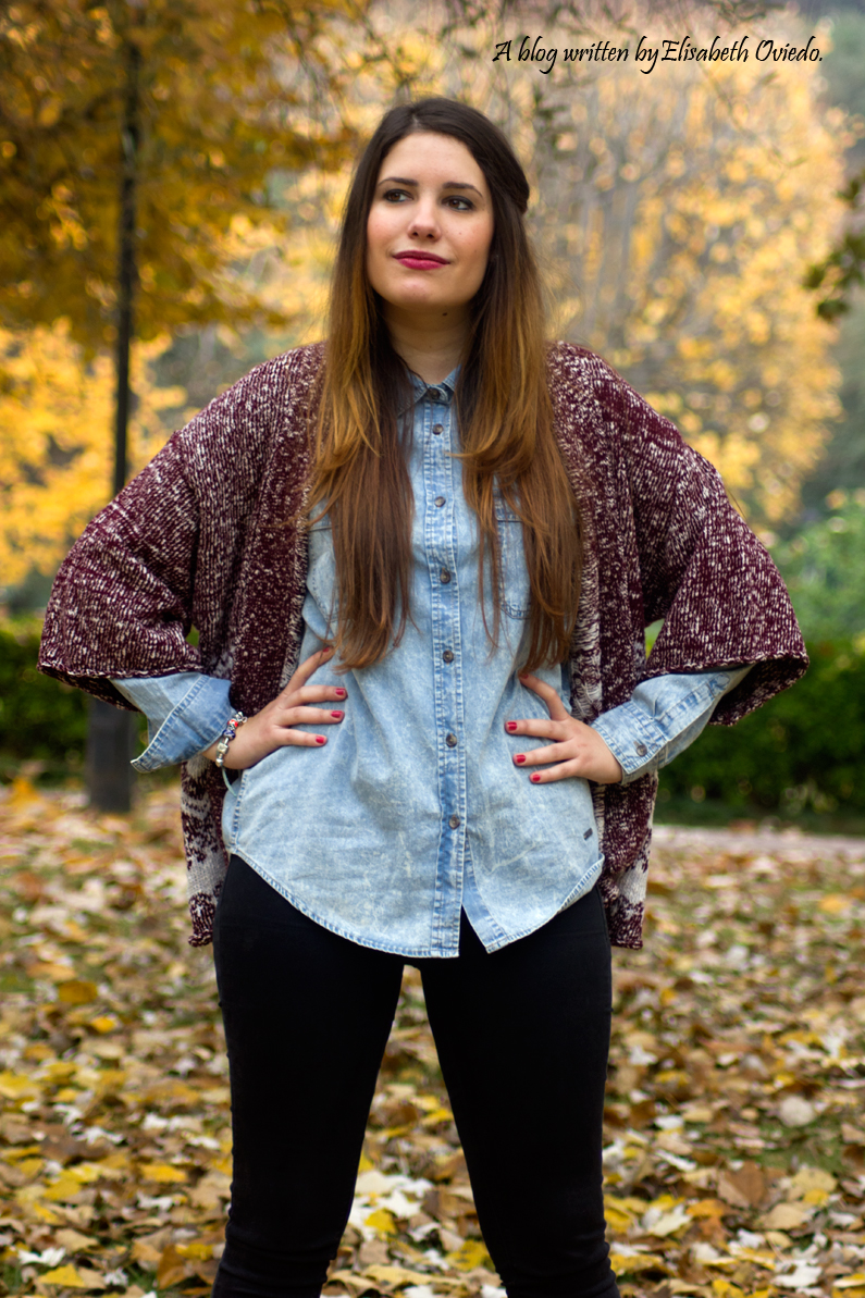 camisa denim look otoñal HEELSANDROSES  (5)