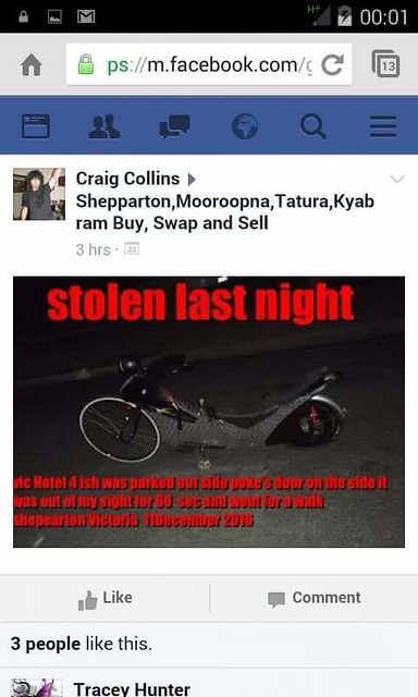 how to sell a stolen bike