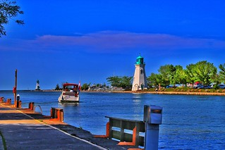 St Catharines Ontario  ~ Canada ~ Port Dalhousie Harbour ~ Landmark Light Houses