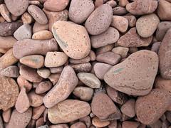 Lakeshore beach gravel (upper Holocene; derived from the Split Rock intrusive felsite, Proterozoic; Iona's Beach, northeastern Minnesota, USA) 12