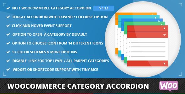 WooCommerce Category Accordion v2.0