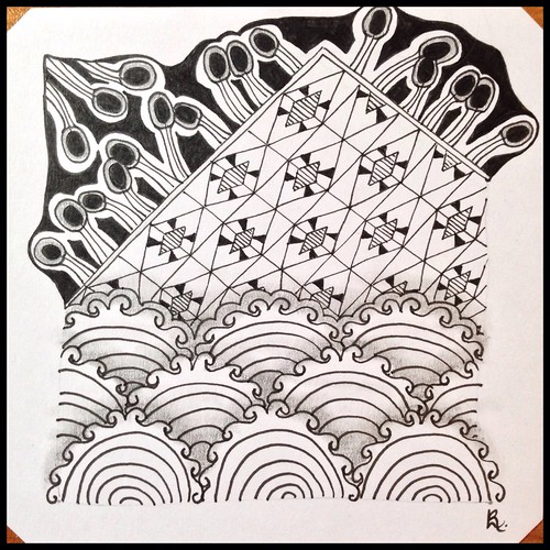 Zentangle 121 for Weekly Challenge #37: Tangle with T-O-Q