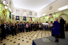 U.S. Secretary of State John Kerry addresses staff members and their families at U.S. Embassy Paris on December 9, 2016, as the Secretary visits the French capital for meetings related to Syria and to receive the Legion of Honor award from French Foreign Minister Jean-Marc Ayrault. [State Department photo/ Public Domain]