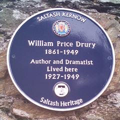 Photo of William Price Drury blue plaque